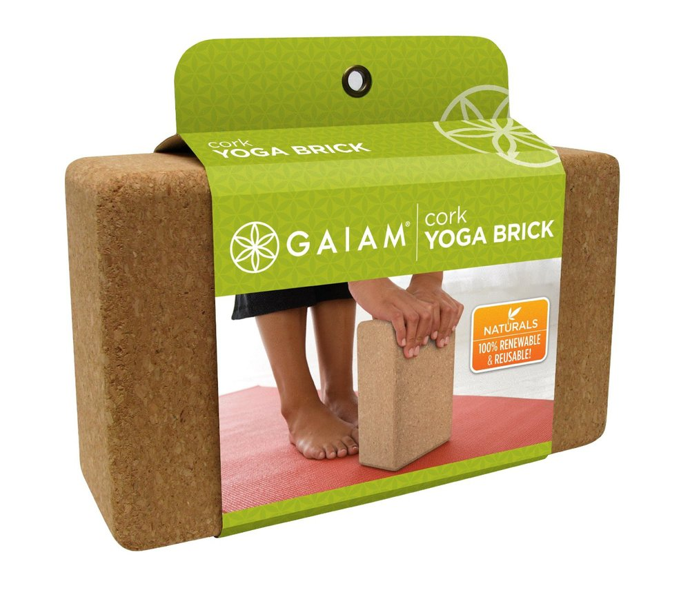 15.  Gaiam Cork Yoga Brick