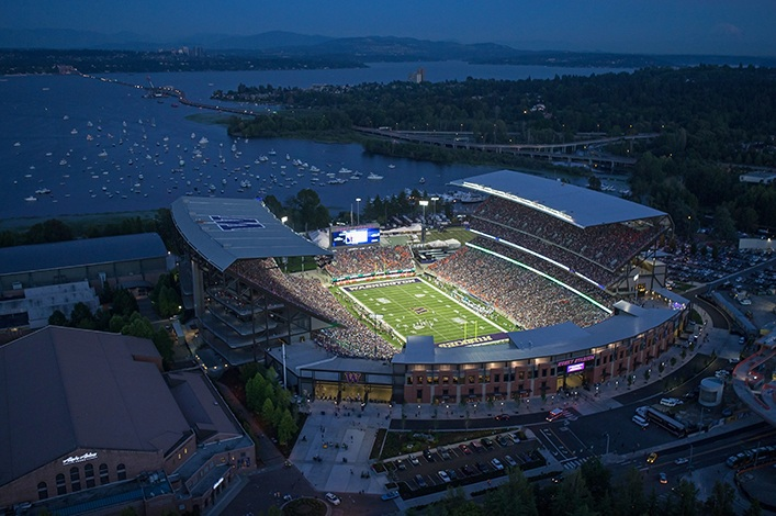 Dad's Day  - In November we tailgate with our dads before we make our way down to Husky Stadium where we have an entire section of seating booked for us and our dads.