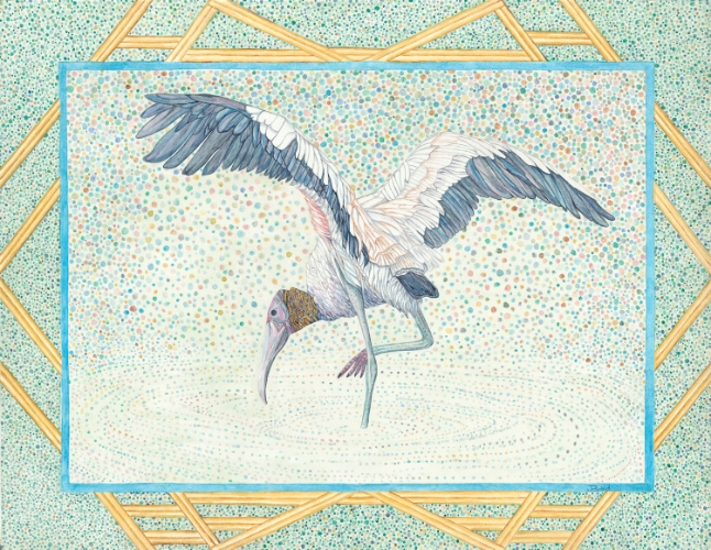 "WOODSTORK -- WATERCOLOR -- 24"" x 18"""