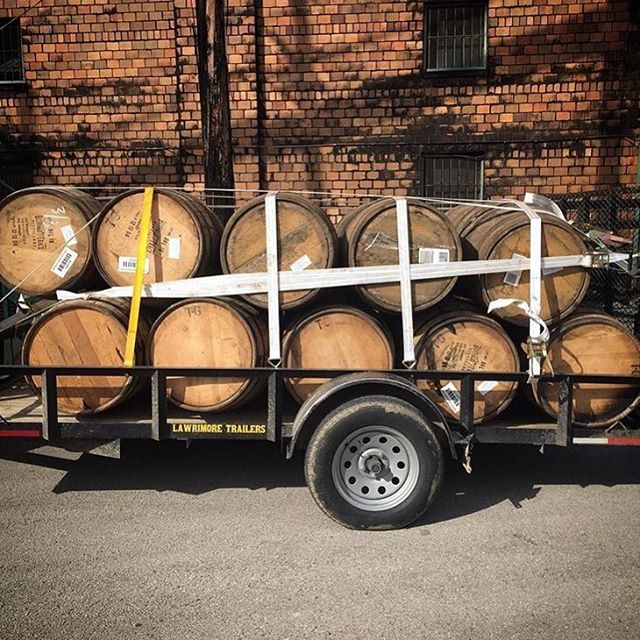 @paulearle took a little trip and brought us back more barrels. Suppose we have to put beer in them now, right? #cultivaterustedbands #repost