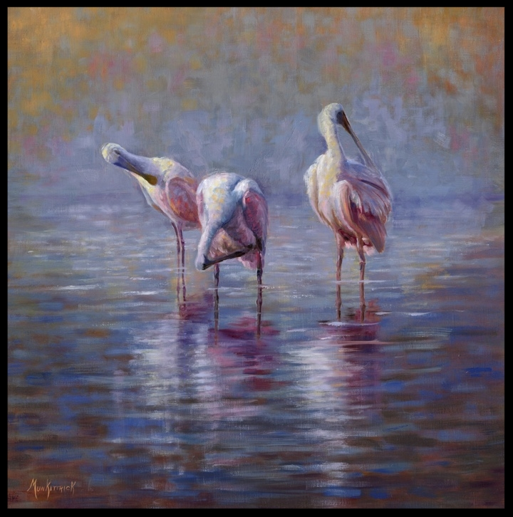 The Preening Hour    30 x 30   Oil on linen  $2500