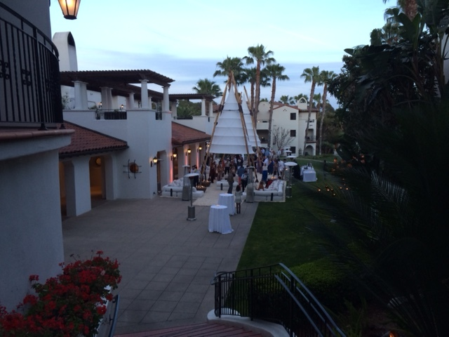 Cocktail reception for corporate incentive weekend in Santa Barbara