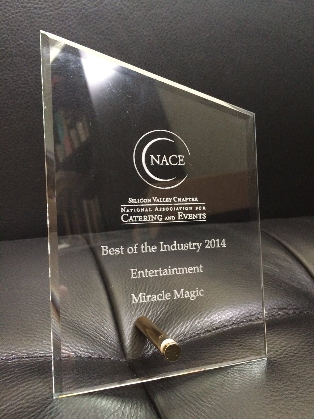 "Thrilled to be recognized as the  ""Best of the Industry""  for Entertainment by the Silicon Valley Chapter of the National Association for Catering and Events. Back when my company was known as Miracle Magic Entertainment."