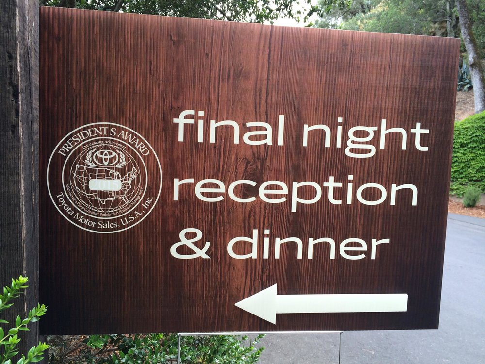 This way to the reception. please.