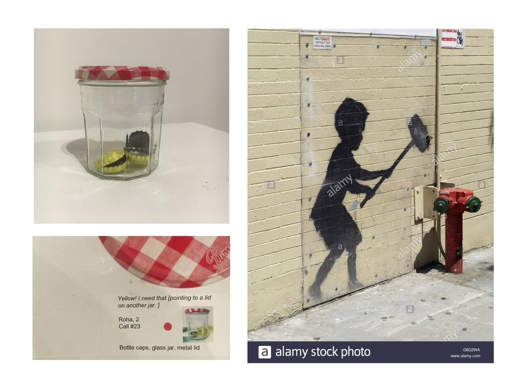 Exhibiting stuff in a gallery may make us look at it differently. Just like when we put a plexiglass barrier on a image sprayed onto a wall - what was once a vandalized building, is now an art site warranting protection.