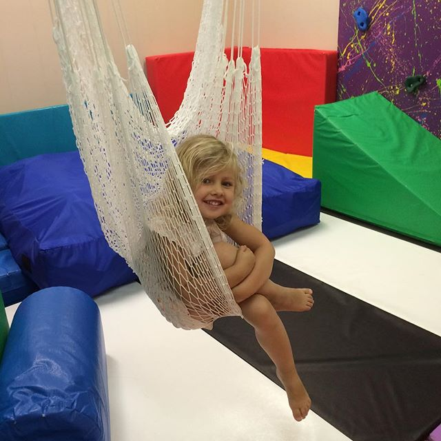 Fun with momma at the office today! #sensorygym
