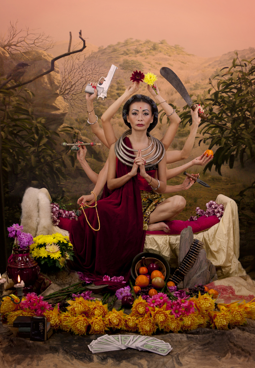 "Kuan Yin Photograph on Plexiglass substrate. 27""x39"""