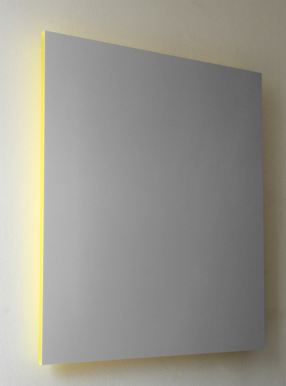 "Gray Sky, Yellow Light Digital C-Print Mounted on Yellow Plexi 16"" x 16"" 2013"