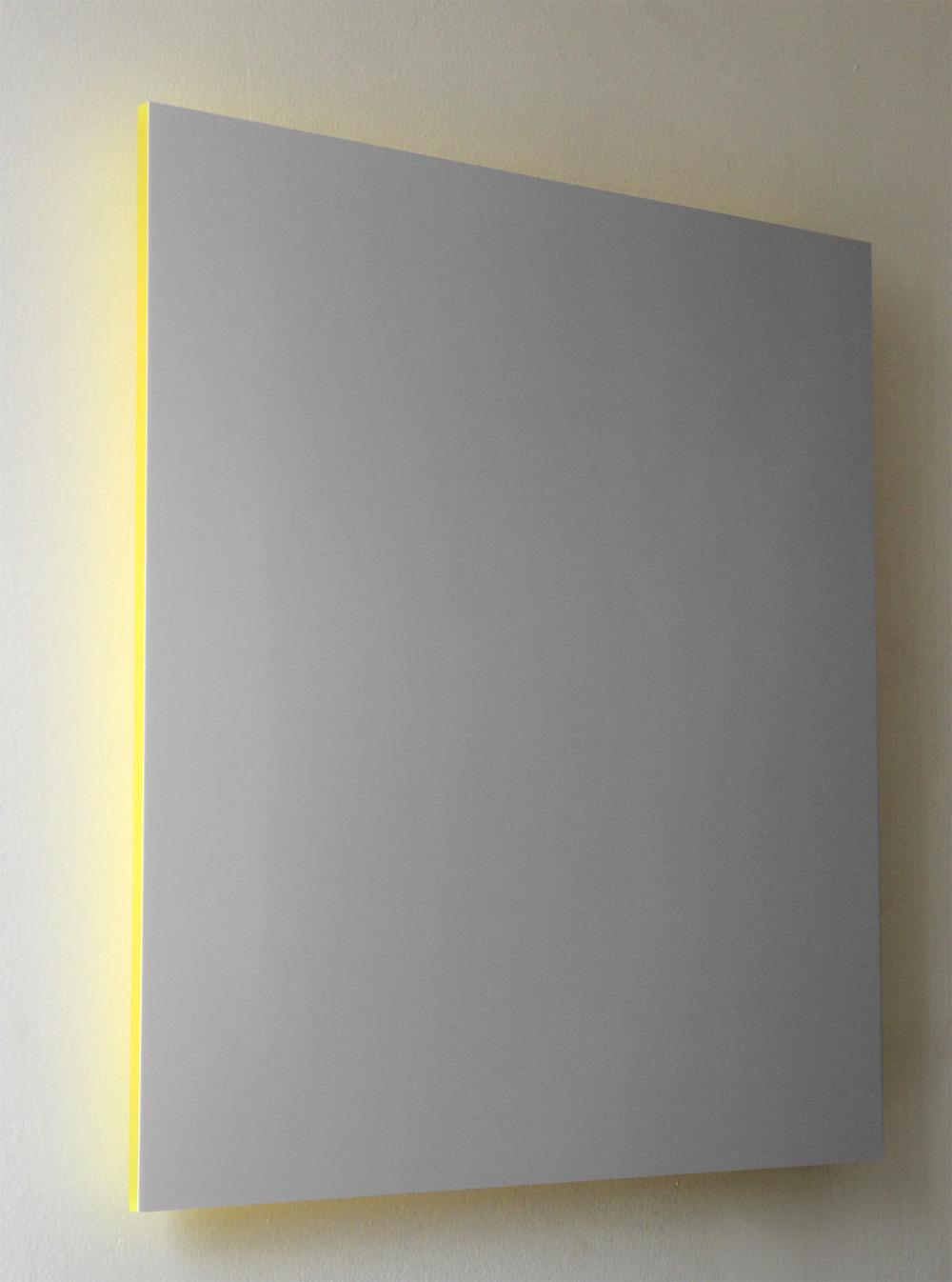 "Gray Sky, Yellow Light Digital C-Print Mounted on Yellow Plexi 16"" x 16"" 2013"