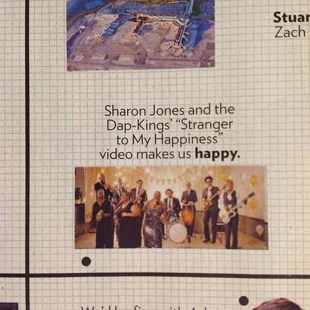 Sharon Jones and the Dap Kings in approval matrix!  Yay @homer808!