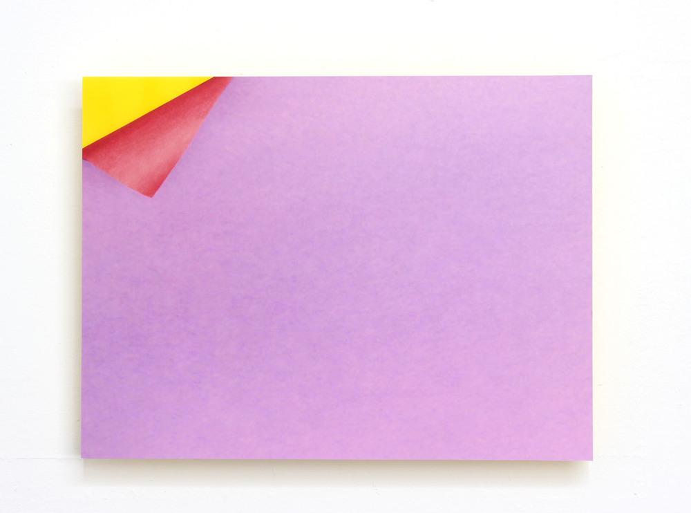 Peel Digital C-Print Mounted on Yellow Plexi 2014
