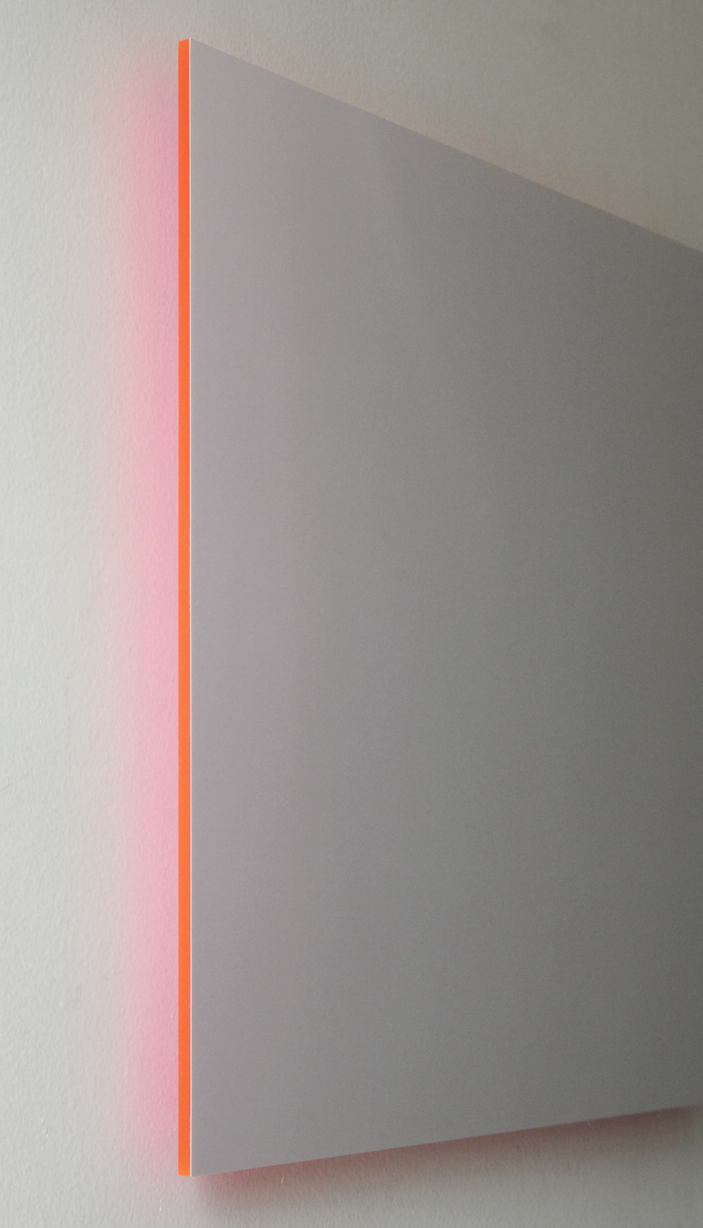"Gray Sky, Pink Light Digital C-Print Mounted on Pink Plexi 16"" x 16"" 2013"
