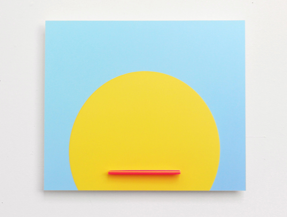 "Sunface Digital C-Print Mounted on Plexi with Plexi Tongue 11"" x 14"" 2013"
