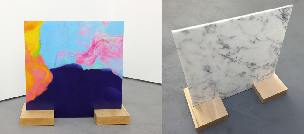 """Doh/Stone  Digital C-Prints Mounted on Plexi and Marble 24""""x24"""" 2015"""