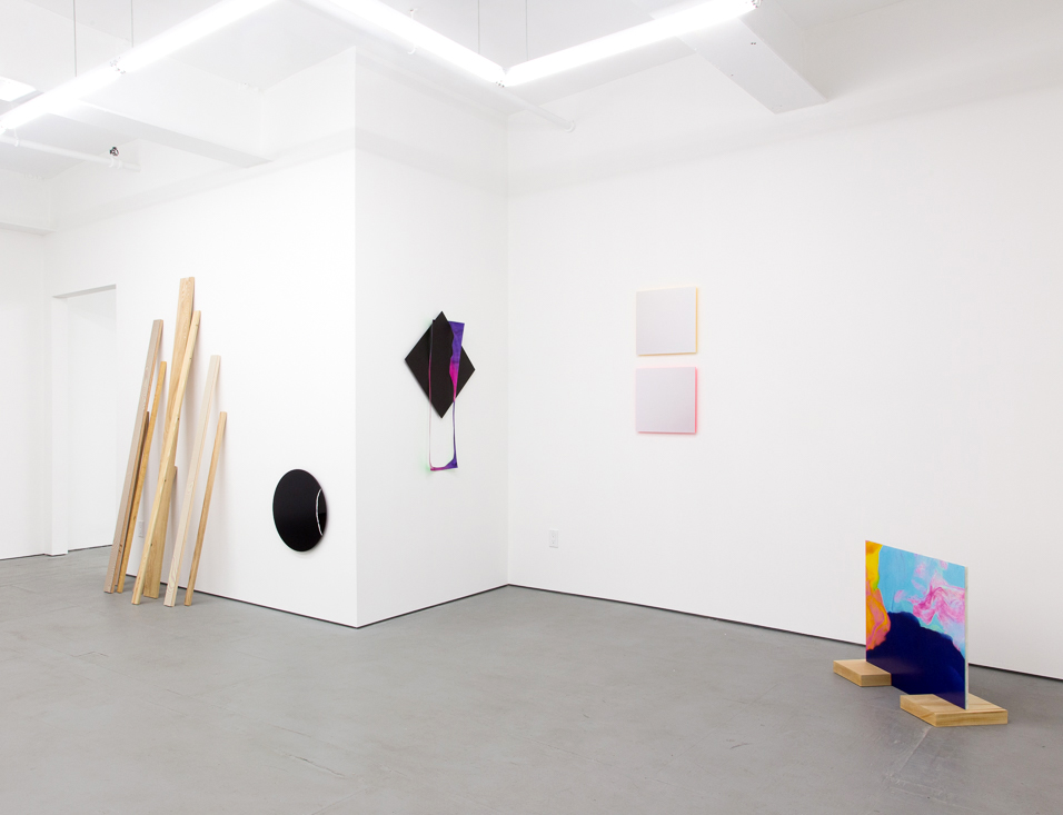 Installation Shot from Each Ellipse Includes a Point curated by Sara Jones at Transmitter Gallery.  Image courtesy of Transmitter Gallery.