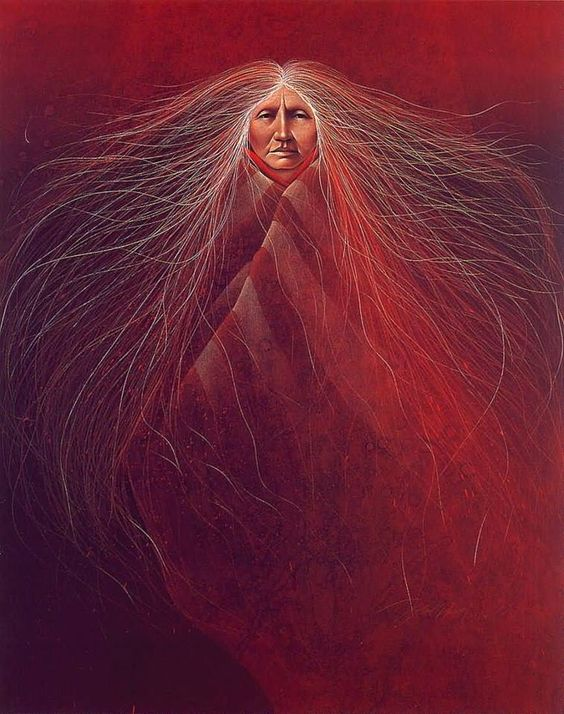 "Artwork by Frank Howell (Lakota Sioux) ""Rose of Grandmothers Songs"""
