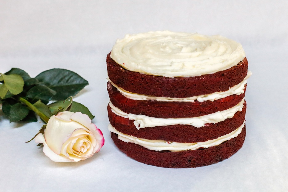 Red Velvet cake for 2, and other pastries, sweet and savory, are on our Valentine's Day menu!