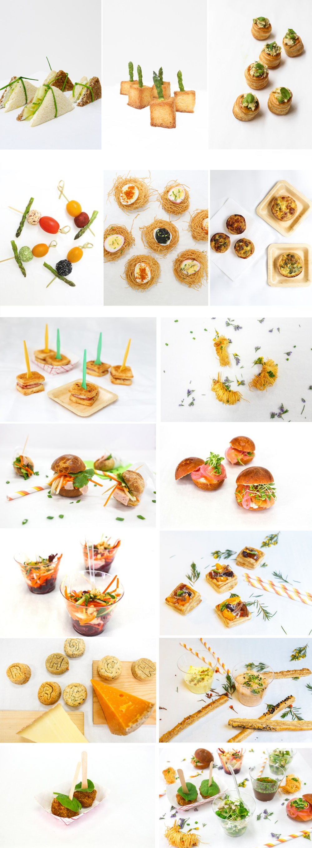 Selection of our canapés and hors-d'oeuvres