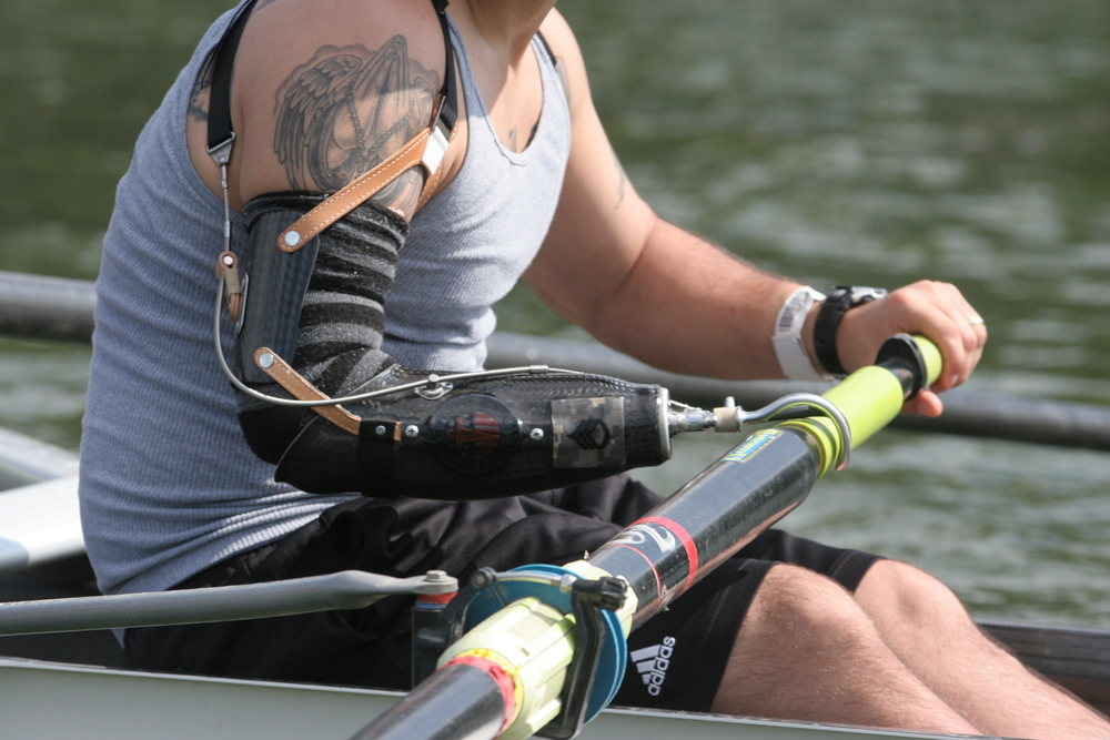 TRFA's Wounded Warrior Veteran rower in action! ~photo by Veronica Scheer