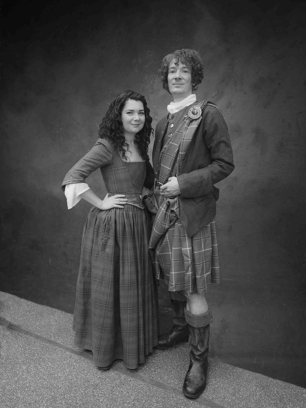 Outlander - Inspired by Outlander (Starz Network)Claire & Jamie Fraser - Featured here in their traditional Scottish Highlander kilt,