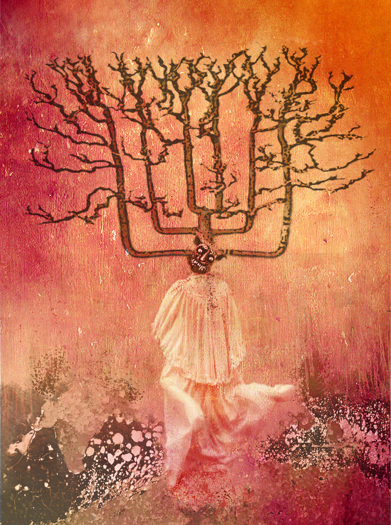 Torment - Tree Imagery - Depicts a woman with Acute Pain Syndrome. The Tree is a symbol of her nervous system and the
