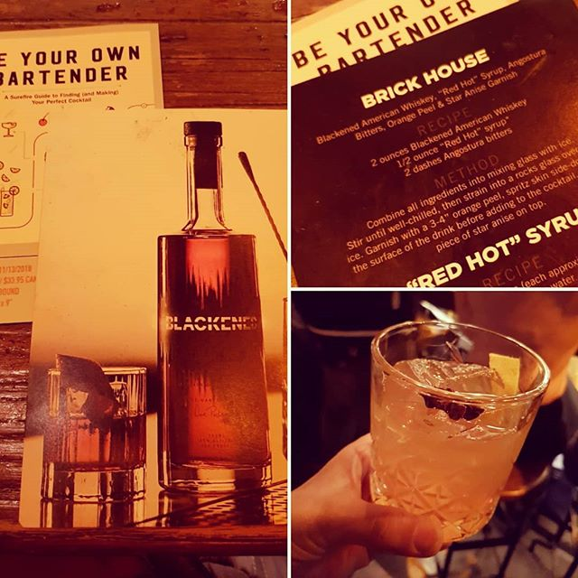 Enjoying a Brick House cocktail with Blackened Whiskey at the Bowery Hotel for a book launch party of 'Be your own Bartender' .. that's a whole lot of 'Bs'! with @theboozemuse  #blackened #whiskey #americanwhiskey #cocktails #booklaunch #beyourownbartender