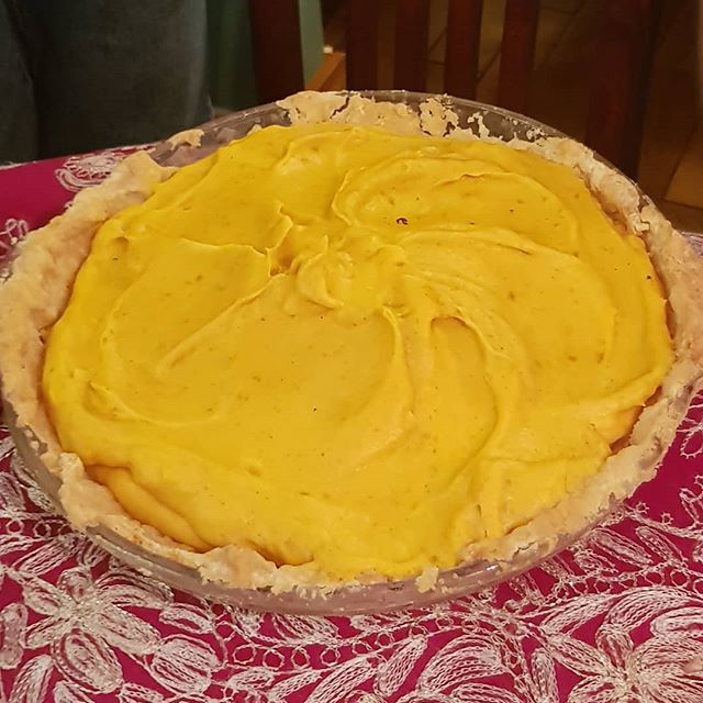 Forgot about the big bird, at my MIL's house it's all about this beauty right here, the Pumpkin Chiffon Pie for Thanksgiving. @linagm we always think of you when it comes out.  #thankful #thanksgiving #deliciouseats #ilovepie #deliciousfood