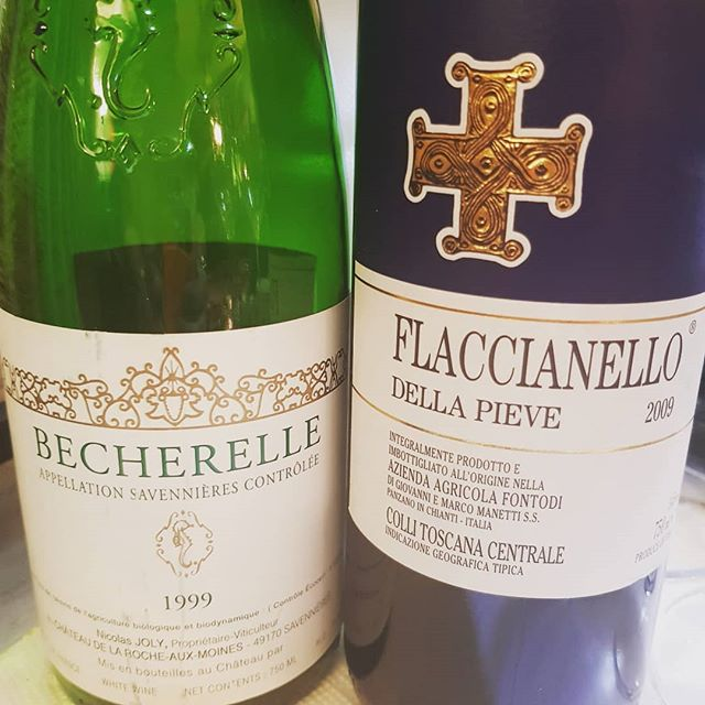 Found some fun wines lurking in the cellar to match with our super delicious turkey this year.  #thankful #thanksgiving #deliciouspairings #deliciouseats #foodporn #foodcoma #italianwine #frenchwine #loire #tuscany #cheninblanc #sangiovese