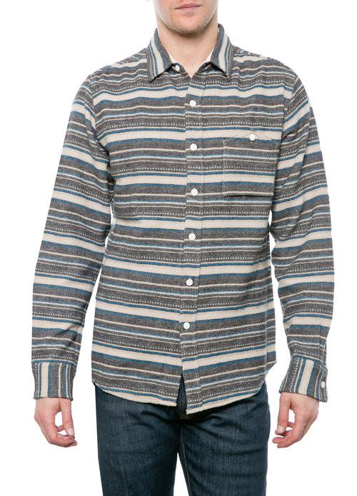 350ac36b3 Horizontal Stripe Flannel Shirt — BARQUE - Modern Interpretation of ...
