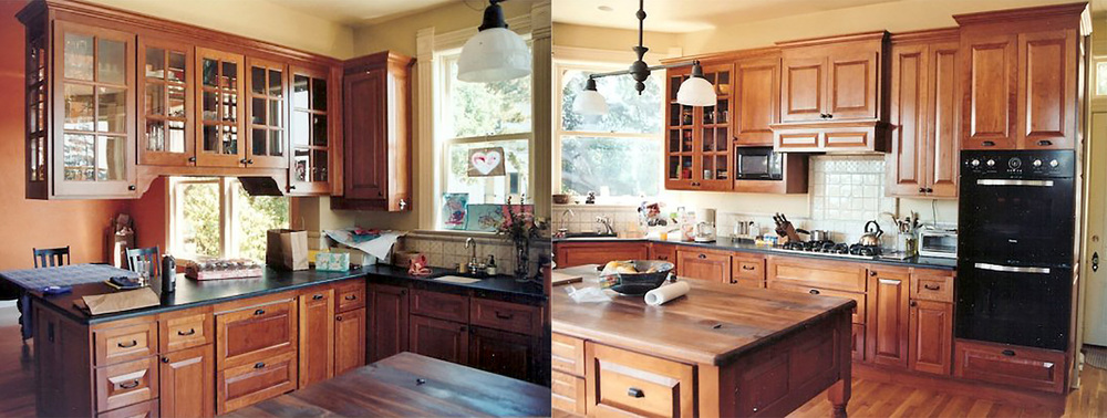 Kitchen in Cherry with raised panels, Santa Cruz