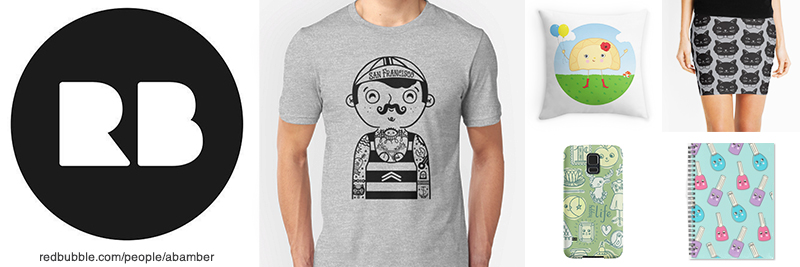 Shop for homegoods, t-shirts, phone cases and more  from A.Bamber's Redbubble Shop!