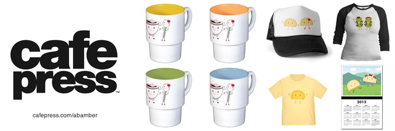 Shop for Ukrainian Food Character Illustrations from A.Bamber's CafePress Shop!