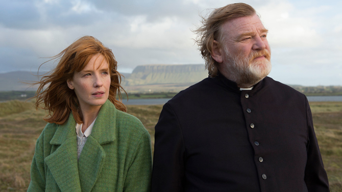 Calvary  Dir: John Michael McDonagh  Father James Lavelle (Brendan Gleeson) is hearing confession when a bombshell hits: He will be killed at the end of the week because of abuse committed by others.    As the next seven days unfold James continues his care for his community; amongst domestic violence and family issues he is beset by the unbelief of his parishioners.    His daughter from a pre-ordination relationship visits after a suicide attempt.    All the while the spectre of Calvary looms.  As you might have discerned this is not a cheery film. It is, however, funny in a very black way.    Throughout his travails, Fr. James keeps his sense of humour amidst a streak of world-weary exasperation. But make no mistake, this is a dark film that will be hard going for some.    Moments of optimism arise and thankfully they are bright indeed, especially in contrast.    Fortunately there is more to this than bleakness.    McDonagh's previous movie with Gleeson,  The Guard  was a fish-out-of-water tale and in a sense this is too: a priest with a realistic faith attacked on all sides by the abrasive doubt of others.    A strong supporting cast features Chris O'Dowd ( The Sapphires ), Aiden Gillen ( Game of Thrones ), Domhnall Gleeson ( It's About Time ), Dylan Moran ( Black Books ) and Kelly Reilly ( Flight ).    Each contributes immensely to create more than the sum of their parts.  In the end this is all about self-sacrifice and vocation: to what extent does one equal the other?    Whilst the final moment might be slightly over-egged, the parallels with Holy Week and the inexorable lurch towards Golgotha are clear.    As such it is a film that stays with you.    It might not be for everyone, but for those who choose to take the trek to Calvary, it will never be forgotten.   This film is in limited release.    Watch for it soon on DVD or through on-line sources like i-tunes etc.