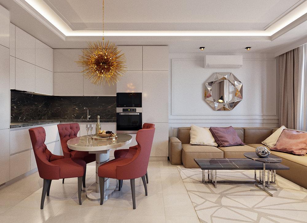 ЭКЛЕКТИКА в интерьере - Дизайн интерьера квартиры с перепланировкой,ЖК