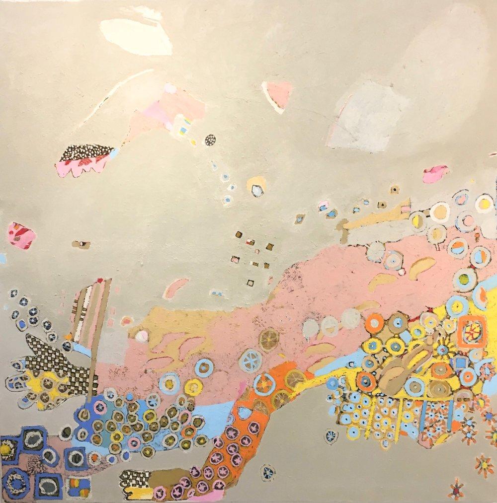 Untitled 182  Oil on canvas  200 x 200 x 2,5cm  78,5 x 78,5 x 1 inch