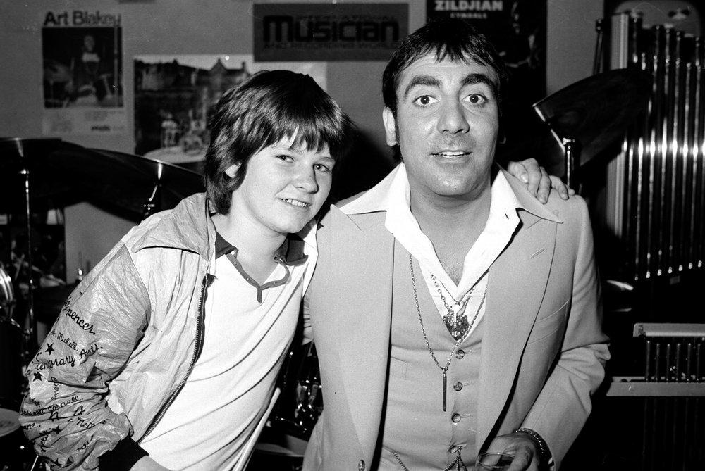 Keith Moon & Zak Starkey, 1978
