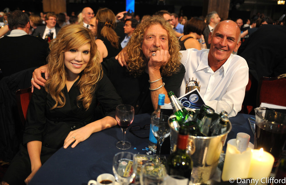 Alison Krauss, Robert Plant & Bill Curbishley.