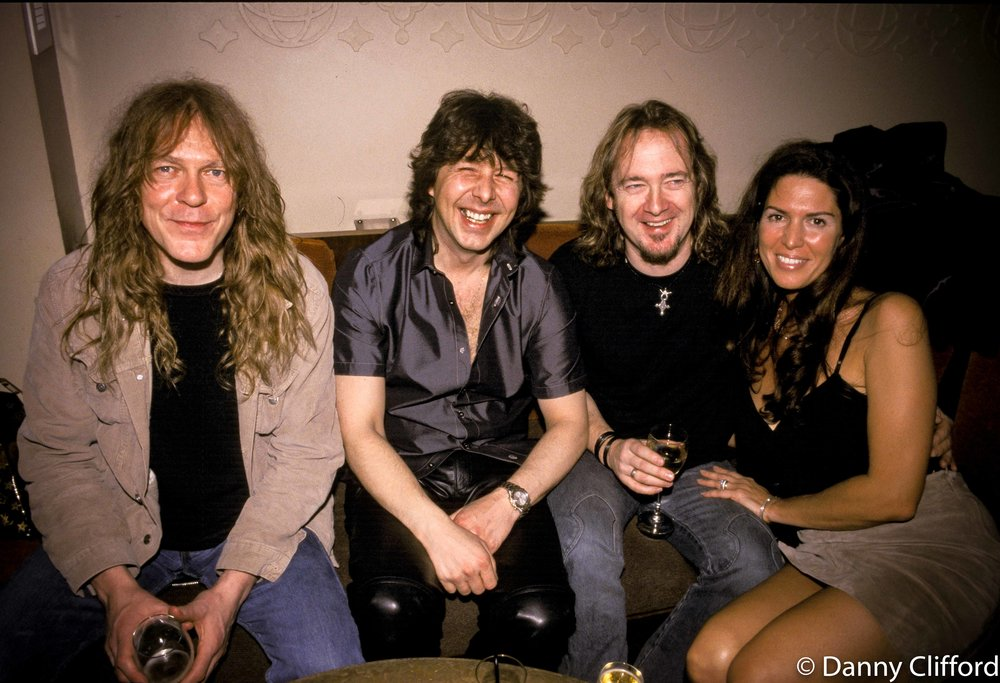 Janick Gers, Clive Burr, Adrian Smith & Nathalie Smith.