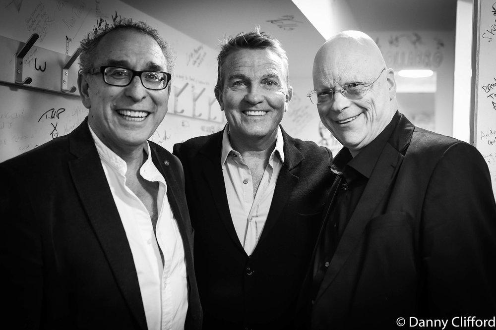 l-r Mitch Dalton, Bradley Walsh, John Altman
