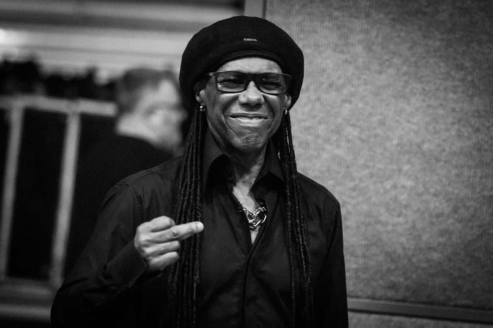 Nile Rodgers Apparently counting in the musicians!