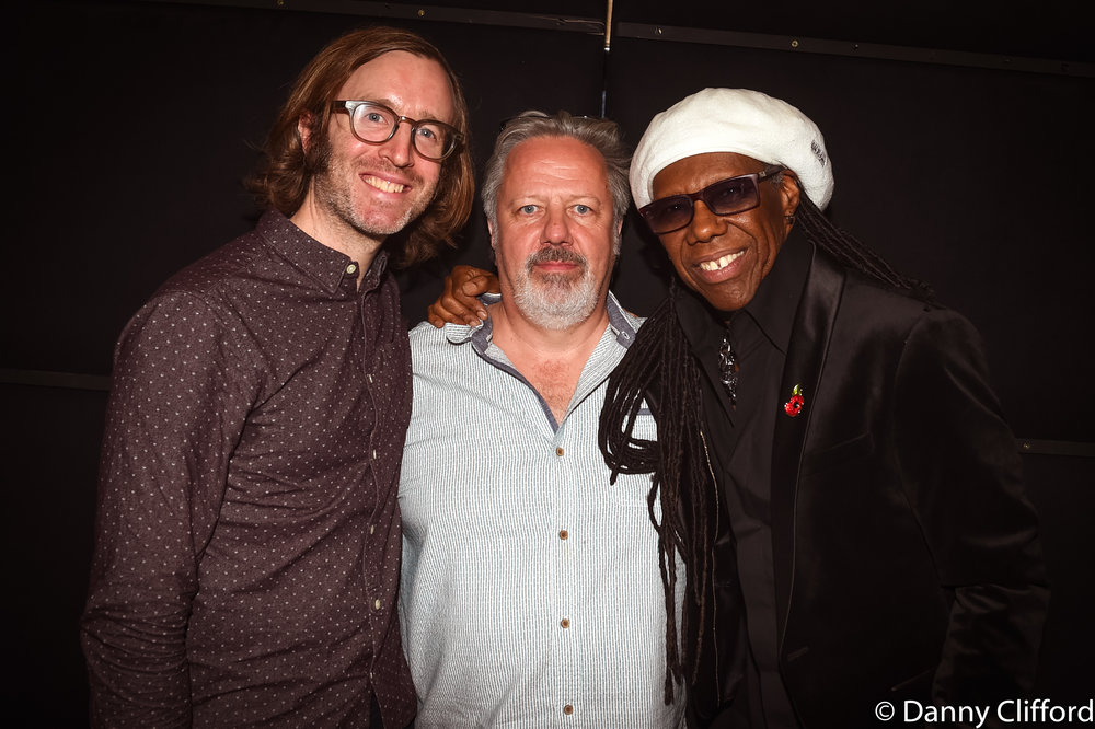 Sam Swallow, Andy Wright & Nile Rodgers.