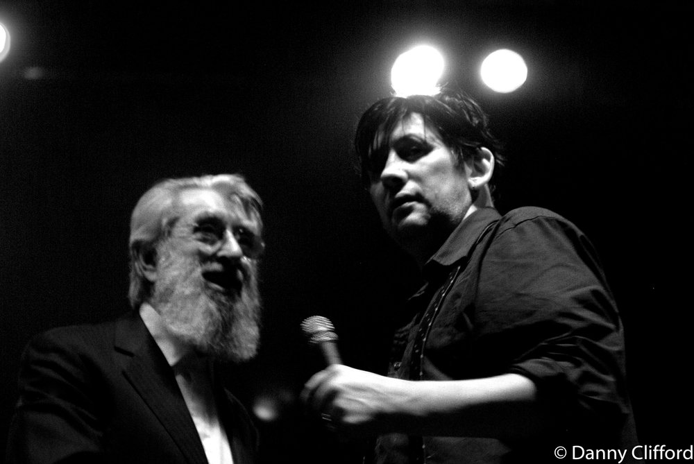 Shane on stage with the legendary & late Ronnie Joice. This was taken on one of the Pogues tour in Dublin.