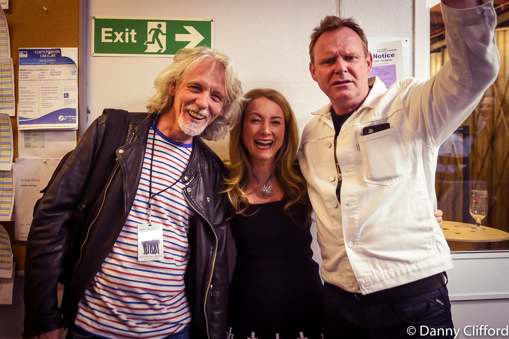 Backstage - Miel with couple of the lovely Wet Wet Wet chaps!