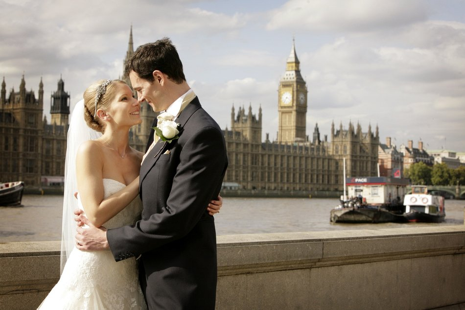 london wedding photographer big ben bride and groom