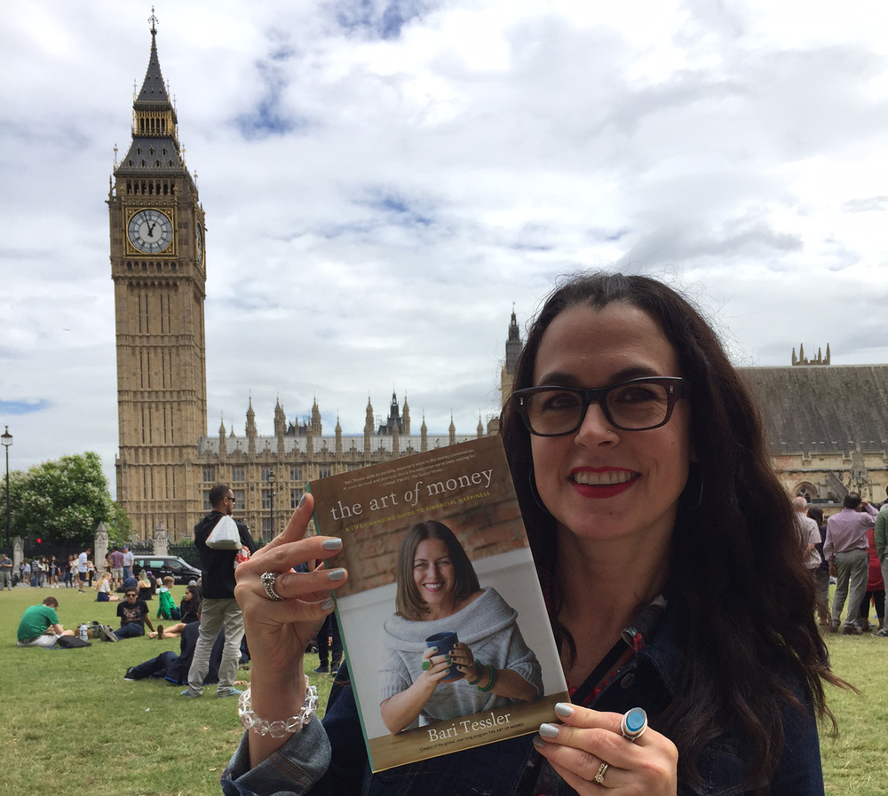 Me, my new favourite book and Big Ben.