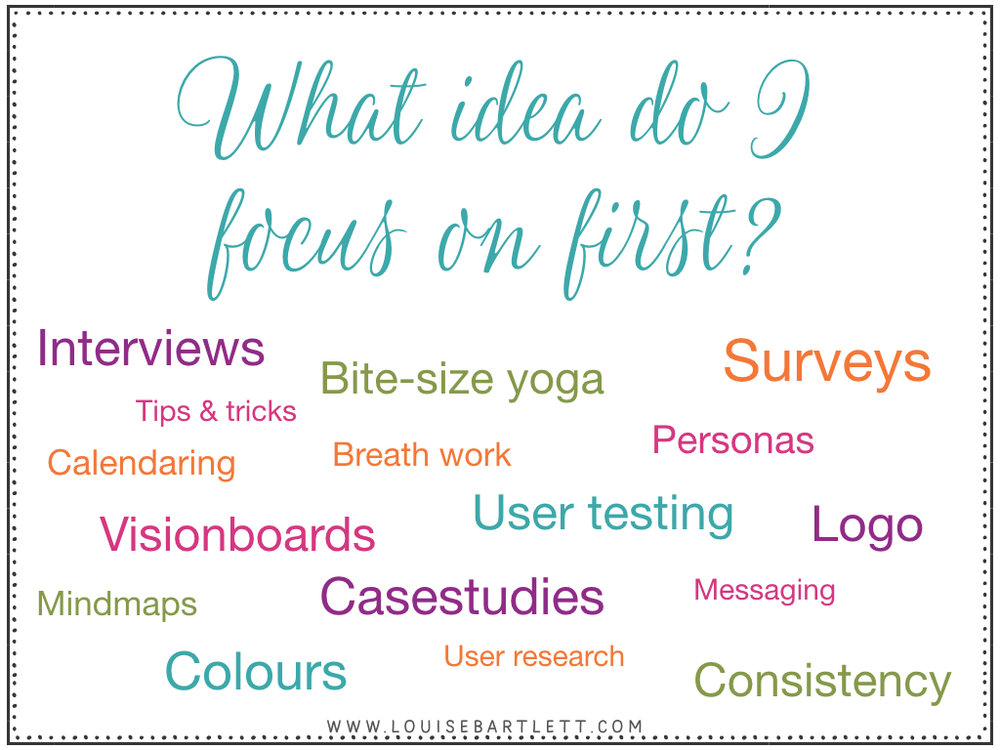 which idea to focus on