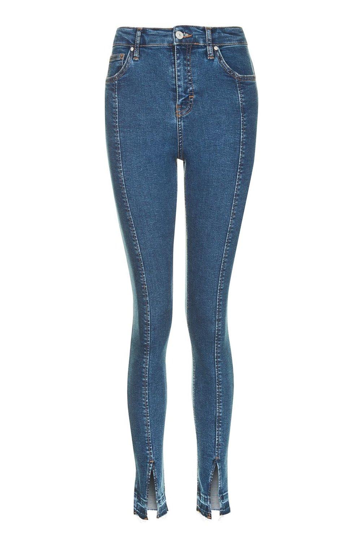 Topshop Split Hem Jamie Jeans