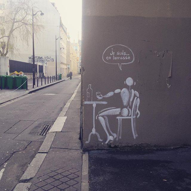 #jesuisenterrasse #streetart #sprayforparis #paris