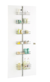 Utility Bathroom Door &Wall Rack Solution