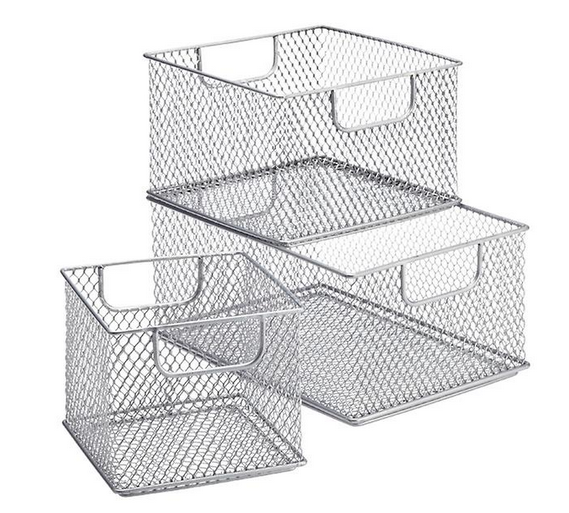 Omaha Steel Mesh Stackable Baskets